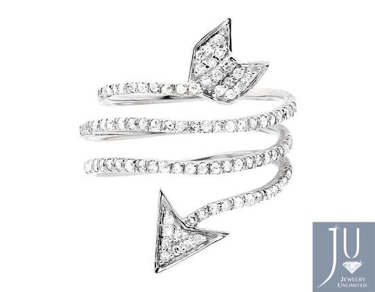 Other Warp Around Cupid Arrow Genuine Diamond Orbit Strand Ring .75ct