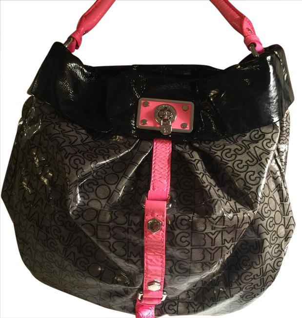Item - Black Pink Patent Leather Hobo Bag