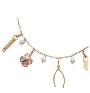 Tory Burch Tory Burch Short Charm Necklace Heirloom Collection Lucky Charms