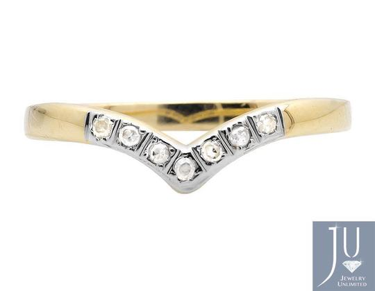 Other Chevron Contour Comfort Fit Genuine Diamond Wedding Ring Band 0.07ct