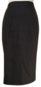 Club Monaco Skirt gray pinstripe