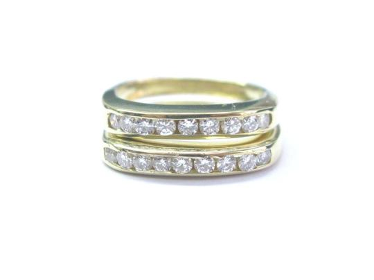 Preload https://img-static.tradesy.com/item/21122422/g-18kt-round-cut-diamond-18-stone-yellow-gold-square-band-55ct-ring-0-0-540-540.jpg