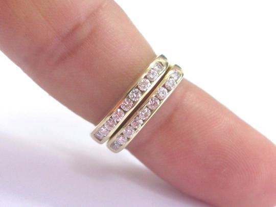 Other 18Kt Round Cut Diamond 18-Stone Yellow Gold Square Band Rings .55Ct