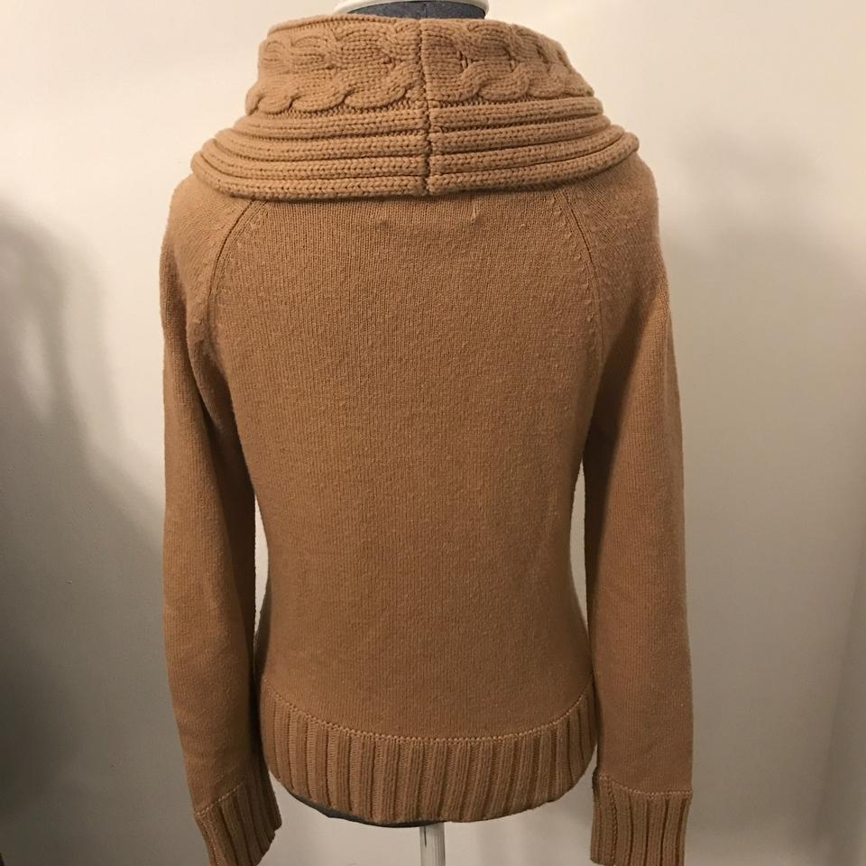 34790adde8 Michael Kors Cable-knit Cowl Neck Camel Sweater - Tradesy