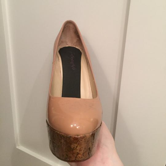 Christian Louboutin Patent Leather nude Wedges