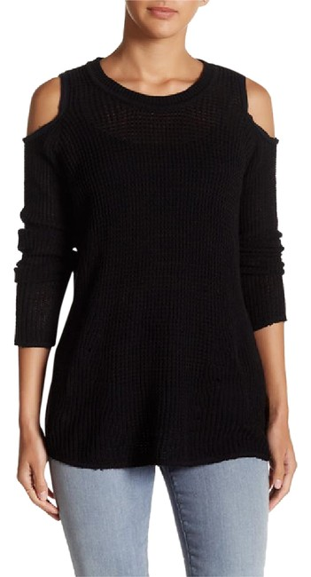 Preload https://img-static.tradesy.com/item/21122593/willow-and-clay-black-cold-shoulder-knit-sweaterpullover-size-2-xs-0-1-650-650.jpg