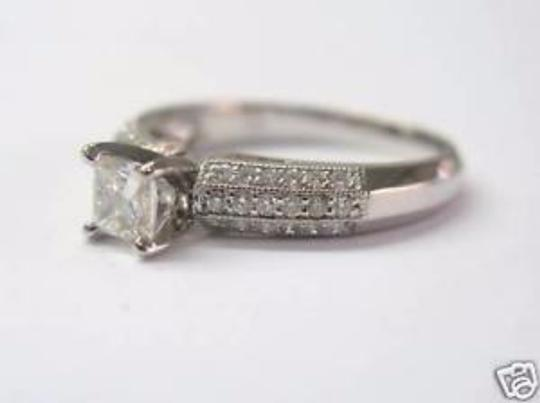 Other Fine Princess Cut Solitaire Pave Engagment Diamond Ring