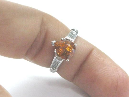 Other Fine Gem Yellow Sapphire Diamond White Gold Jewelry Ring 4.10Ct