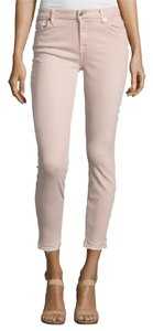 7 For All Mankind Seven Colored Ankle Skinny Jeans-Light Wash
