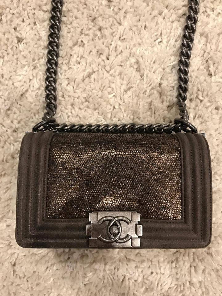 13091c6d8619 Chanel Le Boy Boy Lizard Chain Exclusive Cross Body Bag Image 11.  123456789101112