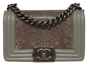 Chanel Rare Exclusive Lizard Boy Le Boy Cross Body Bag