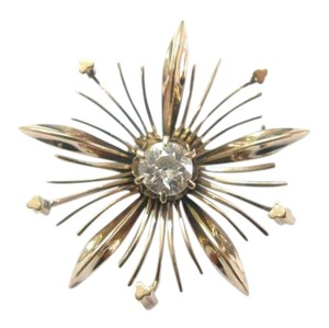 Other Fine Old European Diamond Vintage Pin / Brooch ROSE GOLD .35CT