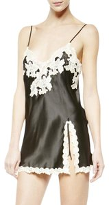 La Perla Slip Silk Lace Trim Lingerie Mini Dress