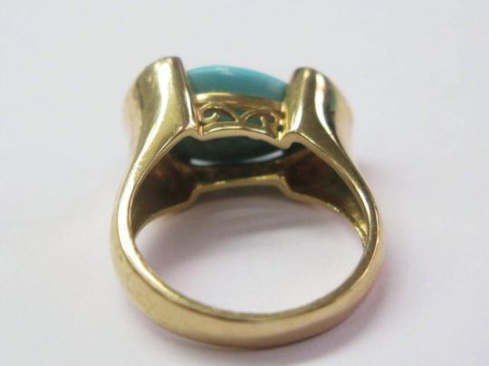 LeVian LeVian Turquoise Diamond Jewelry Ring Yellow Gold 14KT .10CT
