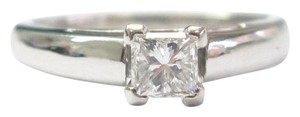 Other Fine 14k Princess Cut Diamond Solitaire Engagement Ring WG .55CT G-SI1