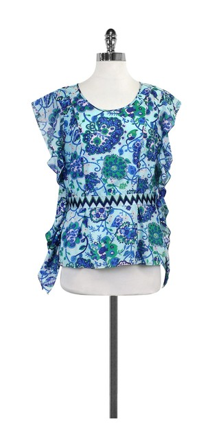 Preload https://img-static.tradesy.com/item/21122838/w118-by-walter-baker-blue-and-green-print-ruffly-shirt-blouse-size-8-m-0-0-650-650.jpg
