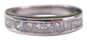 Other Fine Princess Cut Diamond 10-Stone Band Ring WG 1.00CT