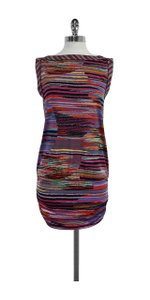 BCBGMAXAZRIA short dress Multi Color Striped Sleeveless on Tradesy