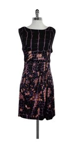Tibi short dress Black & Print Cross Back on Tradesy
