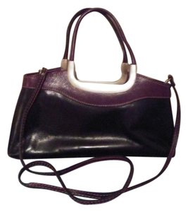 Barberini's Tote in Black and Maroon/Brown