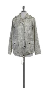 Joie Animal Print Hooded Grey & White Jacket
