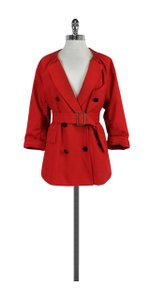 3.1 Phillip Lim Double Breasted Elastic Collar Red Blazer