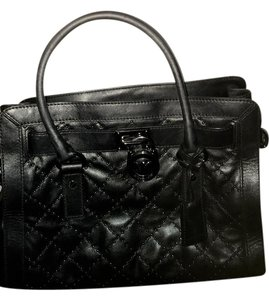 Michael Kors Handbag Leather Calf Hair Satchel in Black