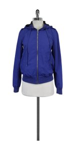 Marc by Marc Jacobs Blue Gingham Hooded Jacket
