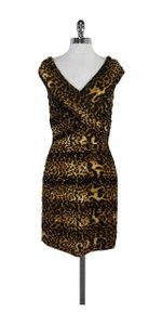 Tadashi Shoji short dress Gathered Animal Print Body Con on Tradesy