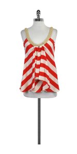 Diane von Furstenberg Red & White Striped Top