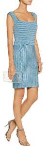 ISSA London short dress Blue Stretch Knit on Tradesy