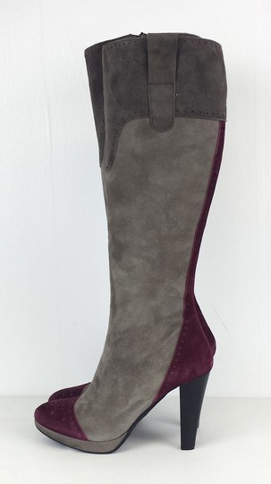 Casuccio & Scalera Purple Suede Grey Boots