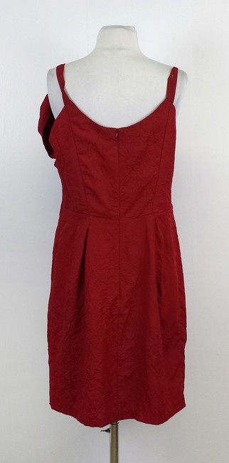 Nanette Lepore short dress Red Crinkled Ruffled on Tradesy
