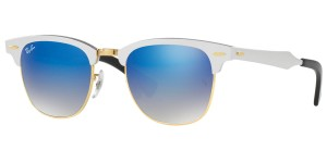 Ray-Ban Ray Ban 3507 137/7Q Brushed Silver Gold Blue Fade Mirror New Sunglass