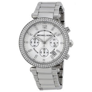 Michael Kors Michael Kors Women's Parker Silver Stainless-Steel Quartz Watch