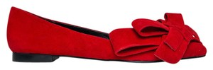 Jeffrey Campbell Leather Suede Sandals Pump Red Flats
