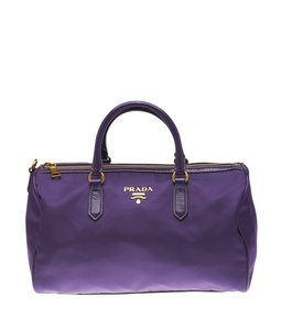 Prada Nylon Satchel in Purple