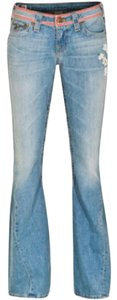 True Religion Embroidered Embroidered Embroidered Denim Flare Leg Jeans