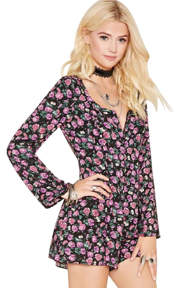 dc6adc16713 Forever 21 Floral Romper Jumpsuit - Tradesy
