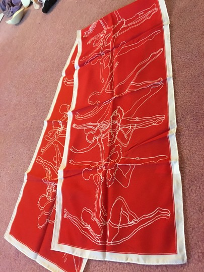 Original Printing Of Boston Ballet Scarf BEAUTIFUL SCARF IS TRULY A PIECE OF BOSTON BALLET MEMORABILIA!