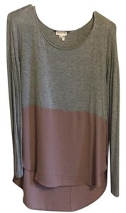 Anthropologie Top Grey and pink