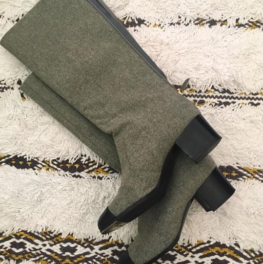 Chanel gray Boots