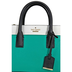 Kate Spade Crosshatched Satchel in Green