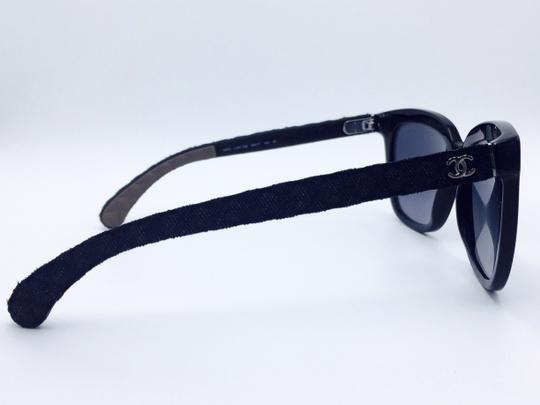 3a63ba2bd38 Chanel Black Butterfly Summer Quilting Leather Chanel Sunglasses 5288-Q  Image 4
