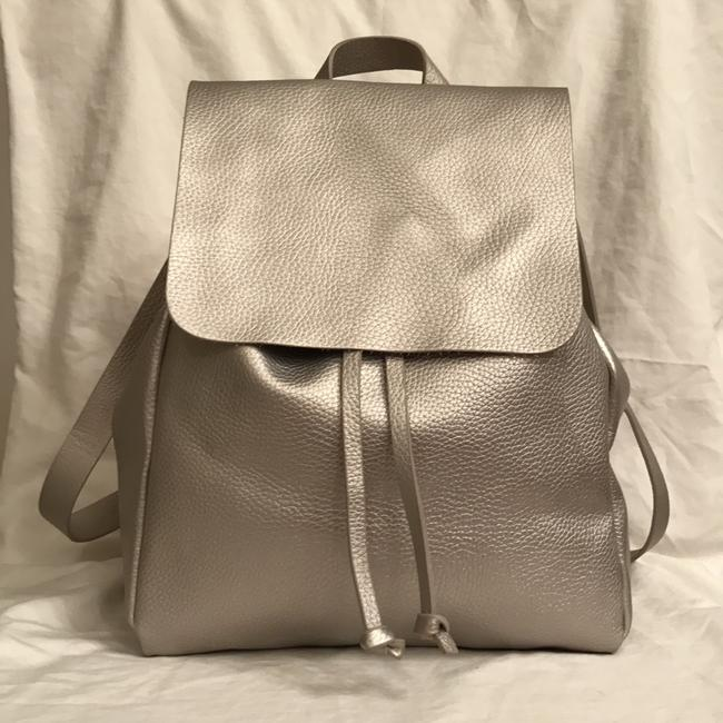Item - Only Worn Once Silver Leather Backpack