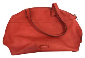Fossil Tote in Orange/red