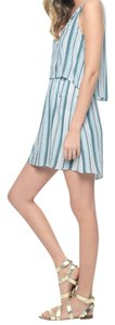 Splendid short dress Antique Green/Blue Grass Striped Sleeveless Summer on Tradesy