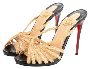 Christian Louboutin High Heels Luxury Heels Red Bottoms Women Heels raffia/black Sandals