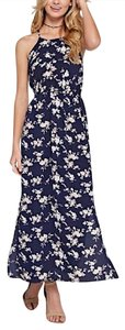 Blue Maxi Dress by Southern Girl Fashion Maxi Floral Long Draped Navy Long Gown