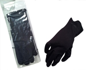 Chanel Chanel Black Polyester and Nylon Gloves -- Size Small